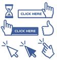 Blue Cursors for Social Media vector image