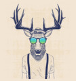 cool deer vector image