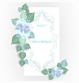 flower wedding invitation card vector image