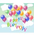 happy birhtday vector image