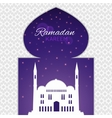 Mosques silhouette on purple night background vector image