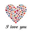 multi-colored hearts vector image