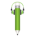 pencil and headphones s vector image