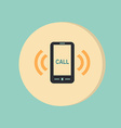 ringing phone the call vector image