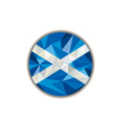 Scotland Flag Icon Circle Low Polygon vector image