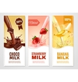 Sweet Milk Banners Set vector image