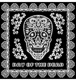 lace skull card vector image