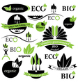 Set of bio and organic badges and labels vector image