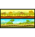 Game Landscapes Horizontal Banners vector image