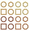 Wooden frames set vector image vector image