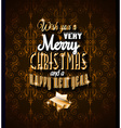 2015 Christmas Greeting Card for happy Holidays vector image