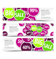 Set of big sale horizontal banners vector image vector image
