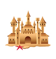 sand castle isolated vector image vector image