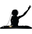 dj silhouette vector image vector image