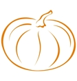 Pumpkin pictogram vector image