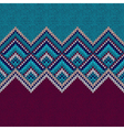 Seamless Pattern Knit Woolen Trendy Ornament vector image vector image