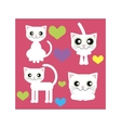 white cat sits stands lies and love vector image