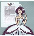 cartoon bride vector image