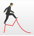 business risk flat concept vector image