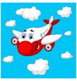 Cartoon plane charachter vector image