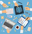 doctors workplace concept vector image