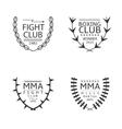 Fight club logo set vector image