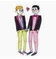 Homosexual wedding ceremony vector image