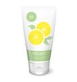 lemon cream white tube vector image