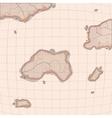 Old world map imitation vector image
