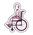 person disabled in wheelchair vector image