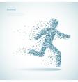 Running triangular man pictogram vector image