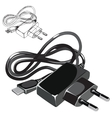 Telephone usb compact charger in black color vector image