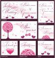 wedding reception card vector image