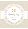 Weding beige lace vector image