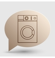 Washing machine sign Brown gradient icon on vector image