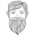 zentangle Portrait of Man with Mustache and vector image