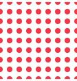 seamless pattern red peas vector image