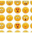 Seamless pattern with smiley face vector image
