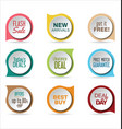modern badges colorful collection vector image