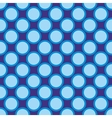 Seamless pattern blue polka dots navy background vector image vector image