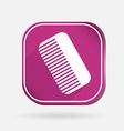 comb barbershop Color square icon vector image