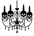 Chandelier with skulls vector image