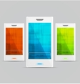 White Cellphones set vector image
