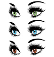 Fashion Eyes in Three Colors vector image