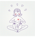 a happy pregnant woman vector image