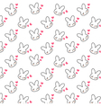 bunny pattern vector image