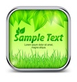 Green square icon with leaves vector image