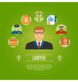 Lawyer Concept Icons Set vector image