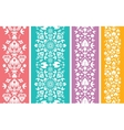 Set of four floral abstract vertical seamless vector image