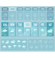 Weather big blue forecast with icons vector image
